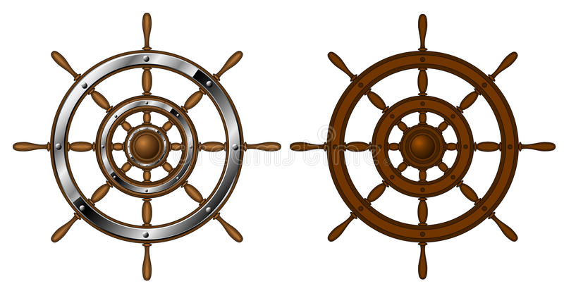 Deux volants illustration stock