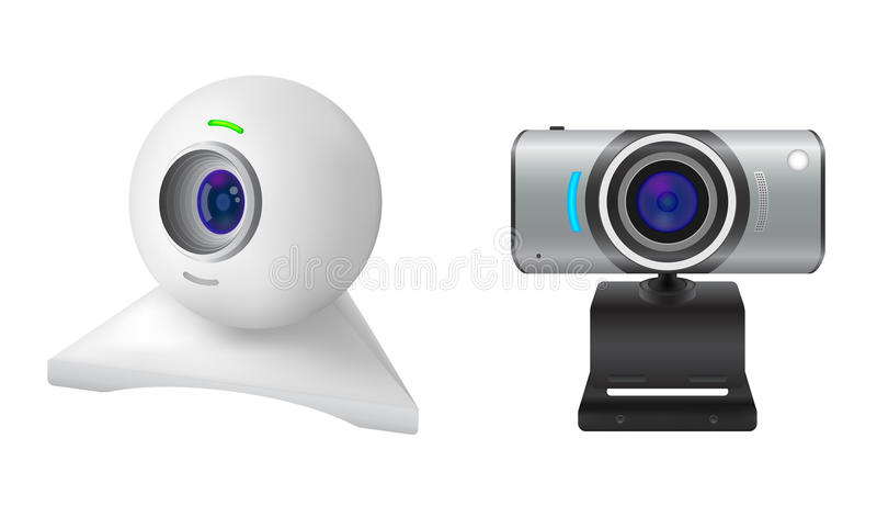 Deux webcams illustration libre de droits