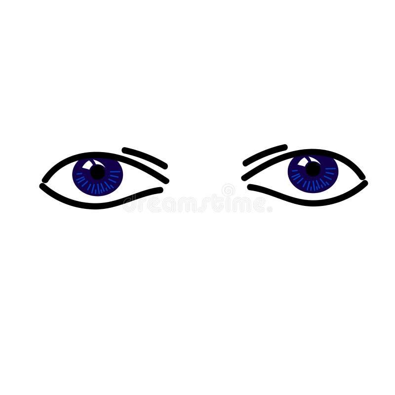 Deux yeux abstraits simples de bllue illustration libre de droits
