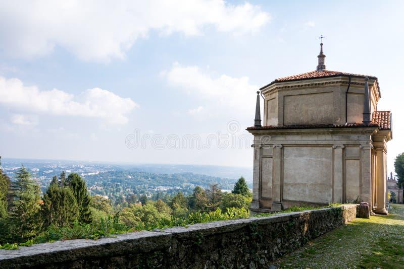 Deuxième chapelle chez Sacro Monte di Varese l'Italie image libre de droits