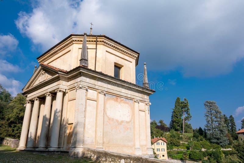 Deuxième chapelle chez Sacro Monte di Varese l'Italie photographie stock