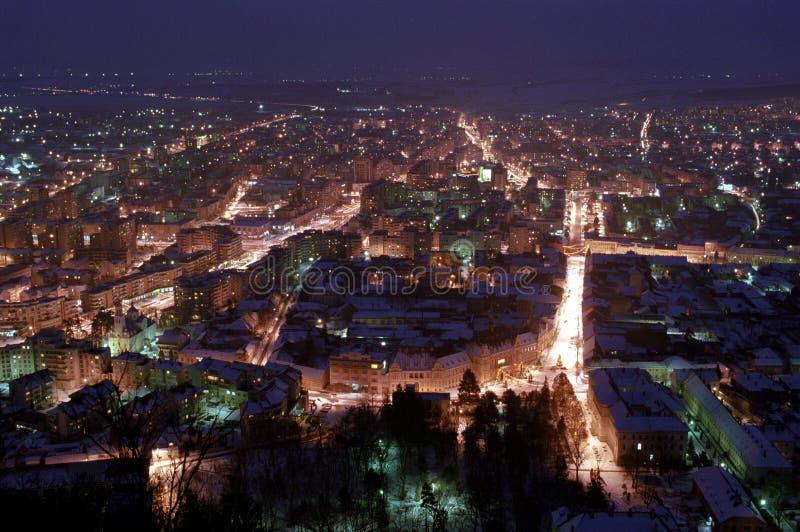 deva晚上罗马尼亚 库存图片