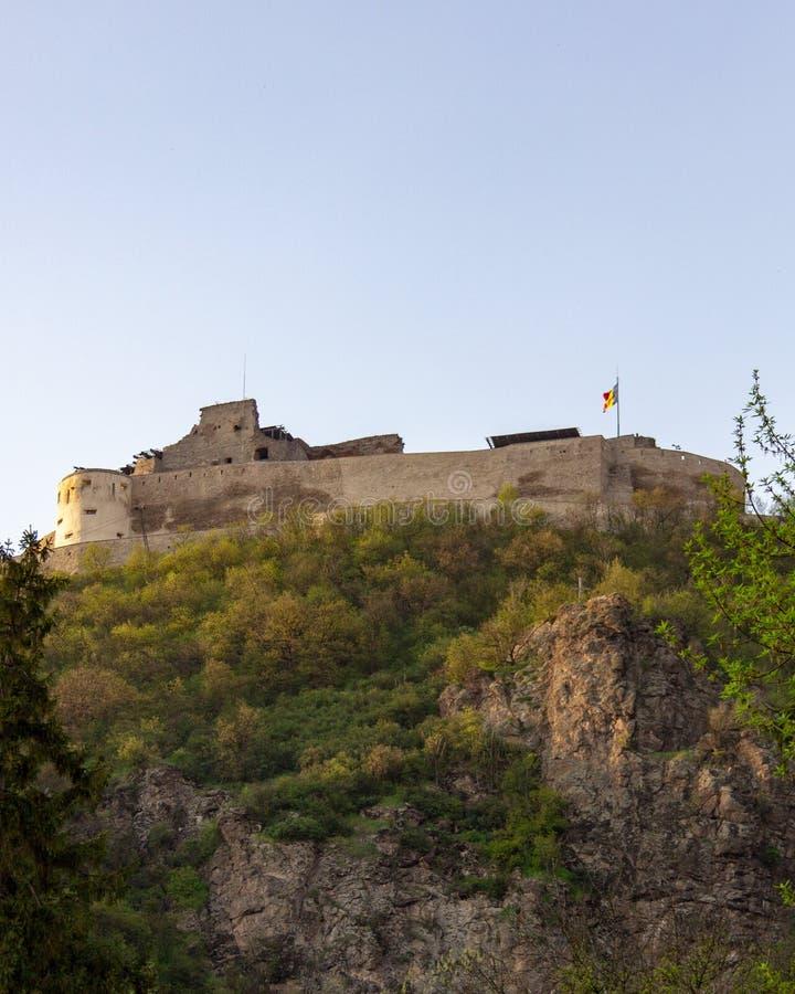 Deva Citadel en Transilvania, Rumania imagenes de archivo