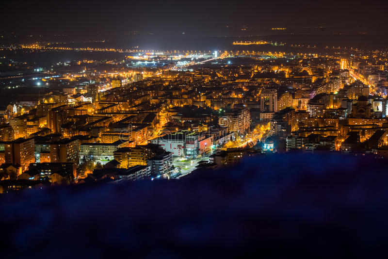 Deva City by night royalty free stock images