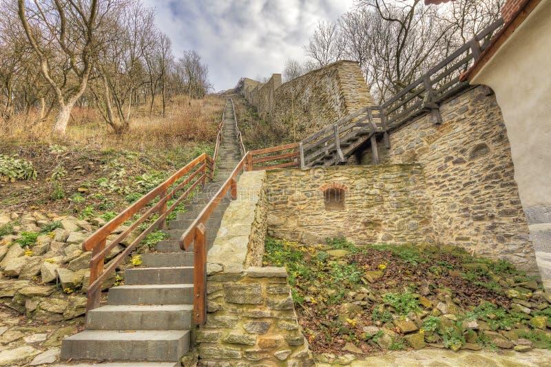 Deva Fortress i Europa, Rumänien royaltyfri foto