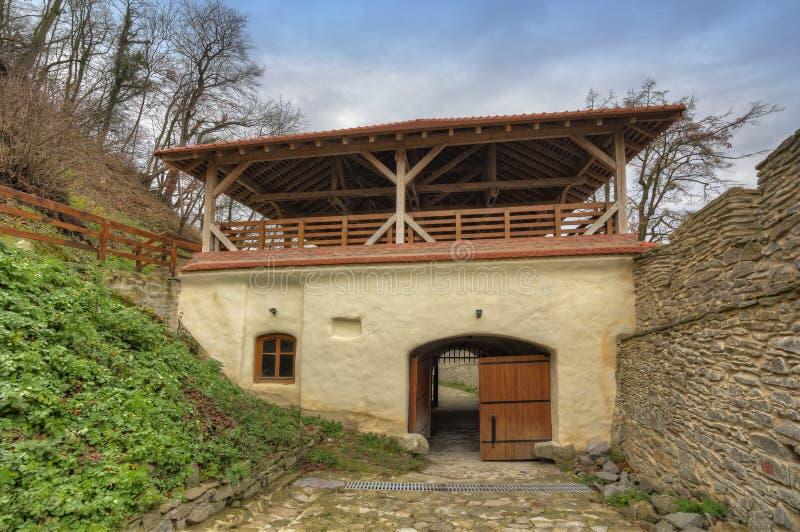 Deva Fortress i Europa, Rumänien arkivfoton
