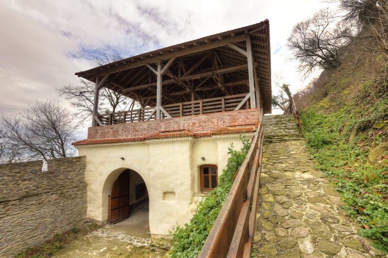 Deva Fortress i Europa, Rumänien arkivbilder