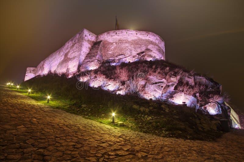 Deva Fortress medieval em Europa, Romênia fotos de stock