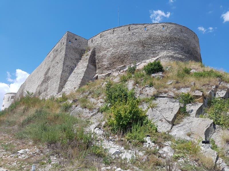 Deva Fortress na Transilvânia, Deva, Romênia fotos de stock royalty free