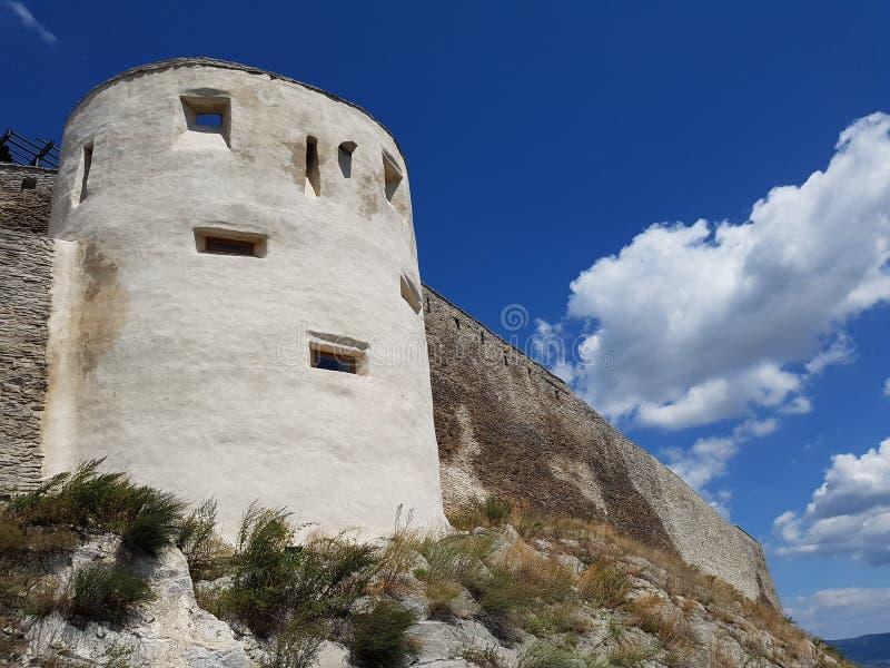 Deva Fortress na Transilvânia, Deva, Romênia fotos de stock