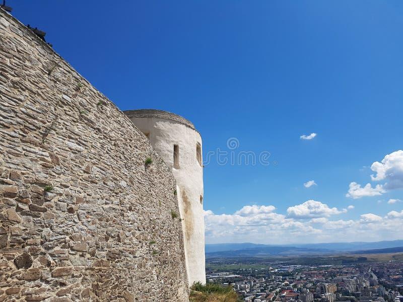 Deva Fortress na Transilvânia, Deva, Romênia imagem de stock royalty free
