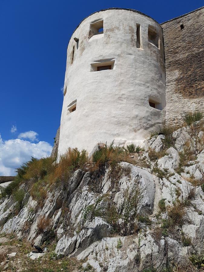 Deva Fortress na Transilvânia, Deva, Romênia imagens de stock