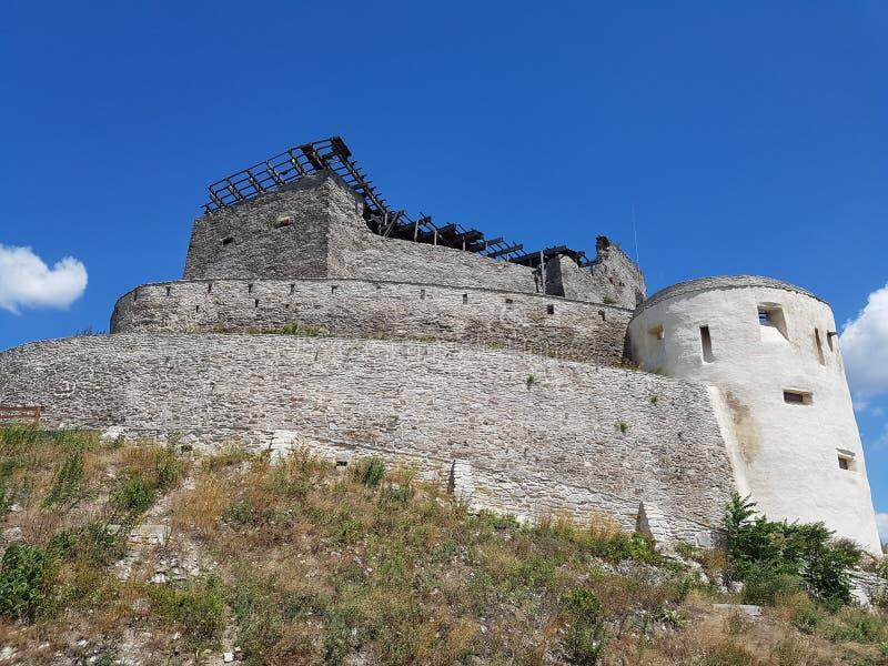 Deva Fortress na Transilvânia, Deva, Romênia imagem de stock