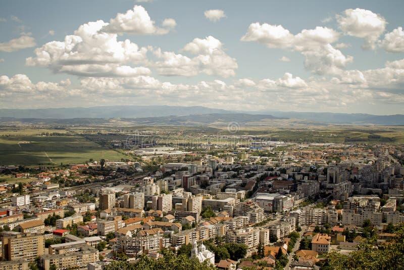 Deva-Hunedoara krajobraz zdjęcie royalty free