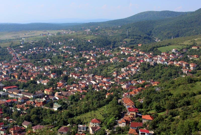 Deva miasto, Rumunia obraz stock