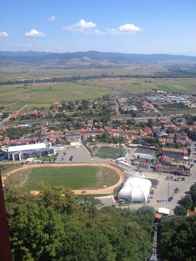 Deva, Romênia - Telecabin imagens de stock royalty free