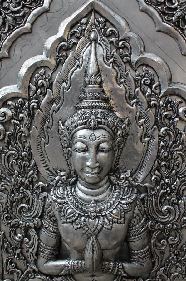Deva srebra cyzelowanie zdjęcia royalty free