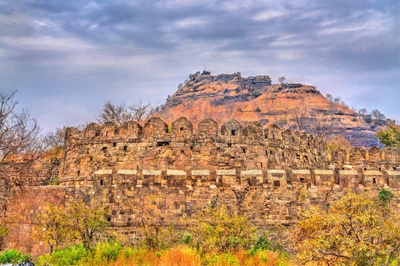 Devagiri堡垒在Daulatabad -马哈拉施特拉,印度 图库摄影