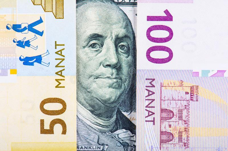 Devaluation of manat. Devaluation of national currency in Azerbaijan royalty free stock image
