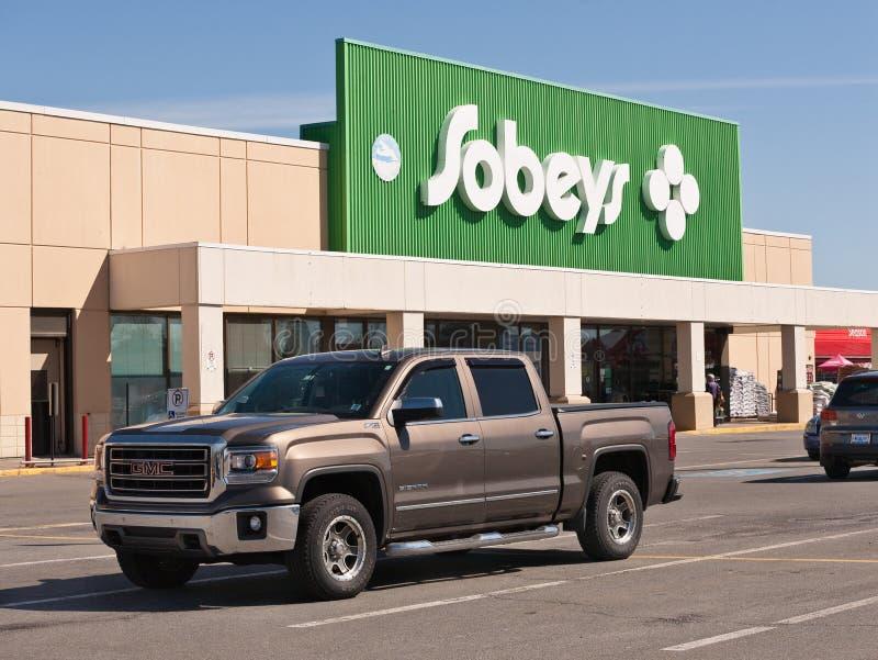 Devanture de magasin de Sobeys image libre de droits