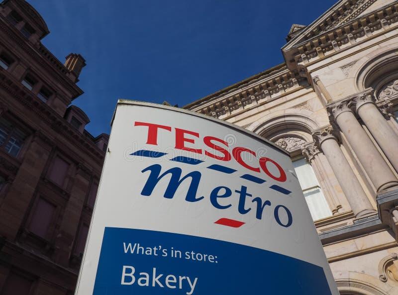 Devanture de magasin de supermarché de Tesco à Belfast photos libres de droits