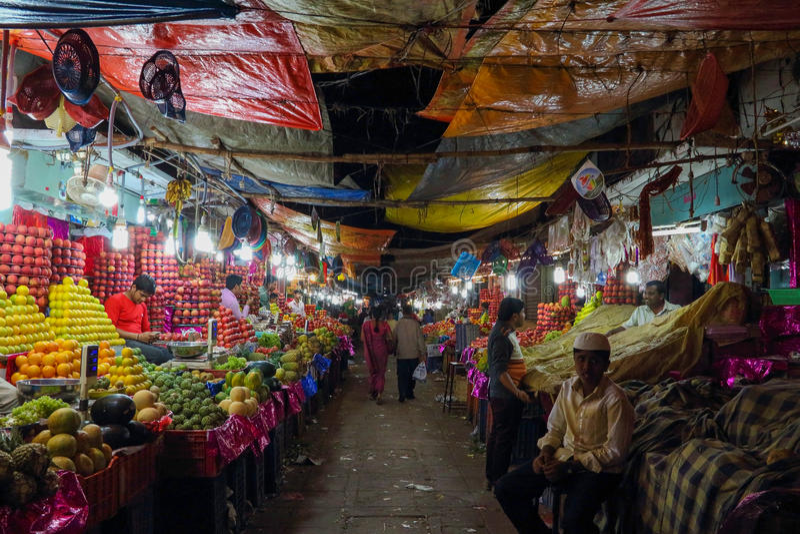 Devarai市场在印度的迈索尔 库存图片
