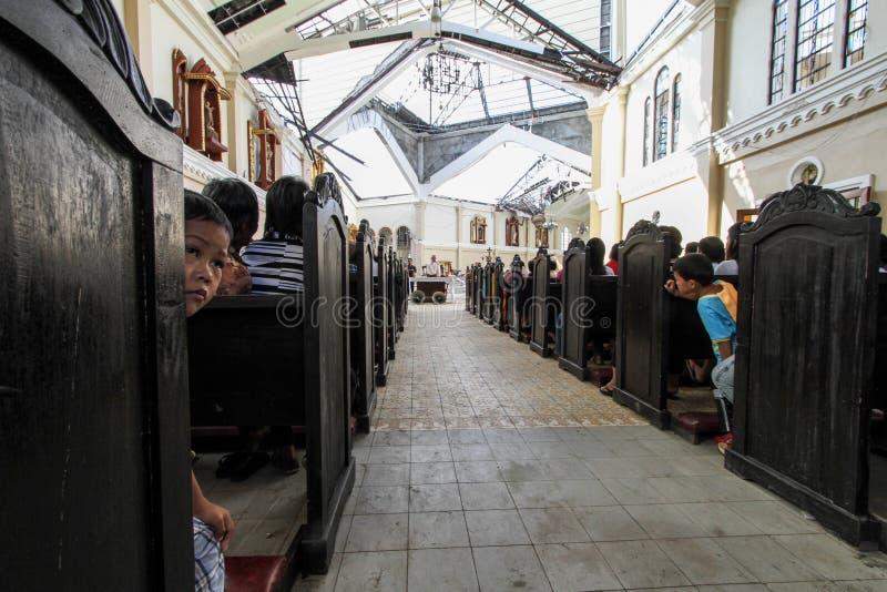 Devastação após o tufão Haiyan imagem de stock royalty free