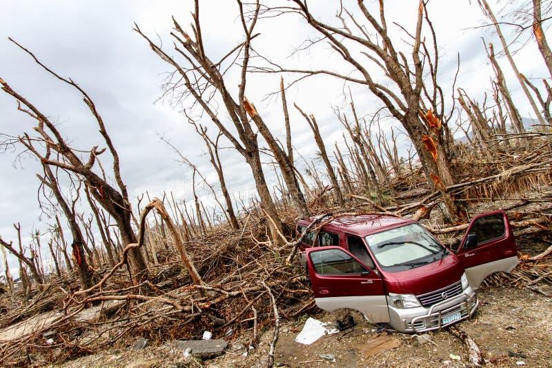 Devastação após o tufão Haiyan fotografia de stock royalty free