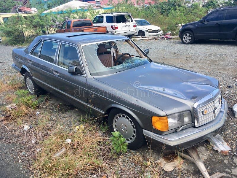 Devastação do furacão em StThomas, das caraíbas foto de stock royalty free