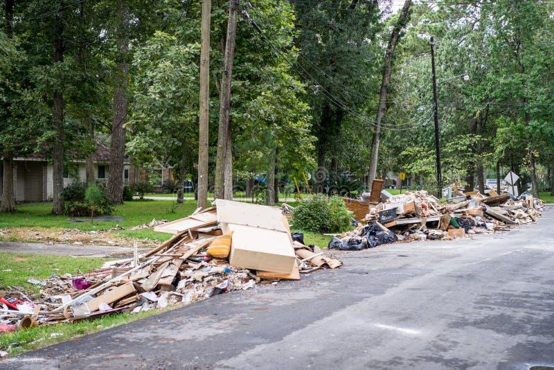 A devastação do furacão Harvey fotos de stock