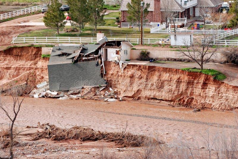 Devastazione dell'inondazione fotografie stock libere da diritti