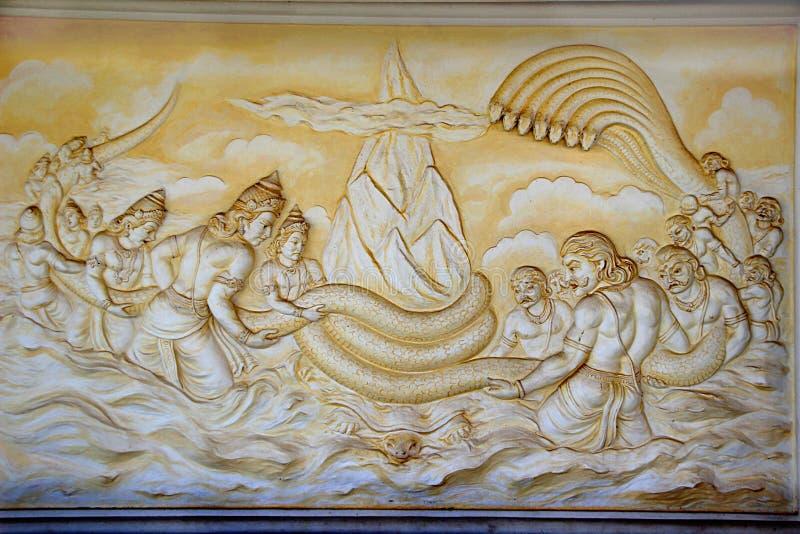 Devasura Samudra Manthana photo libre de droits