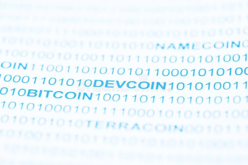 Devcoin付款系统 免版税库存照片