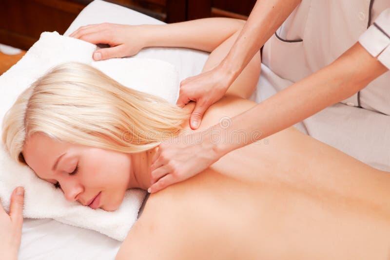 Deve fazer massagens imagens de stock royalty free
