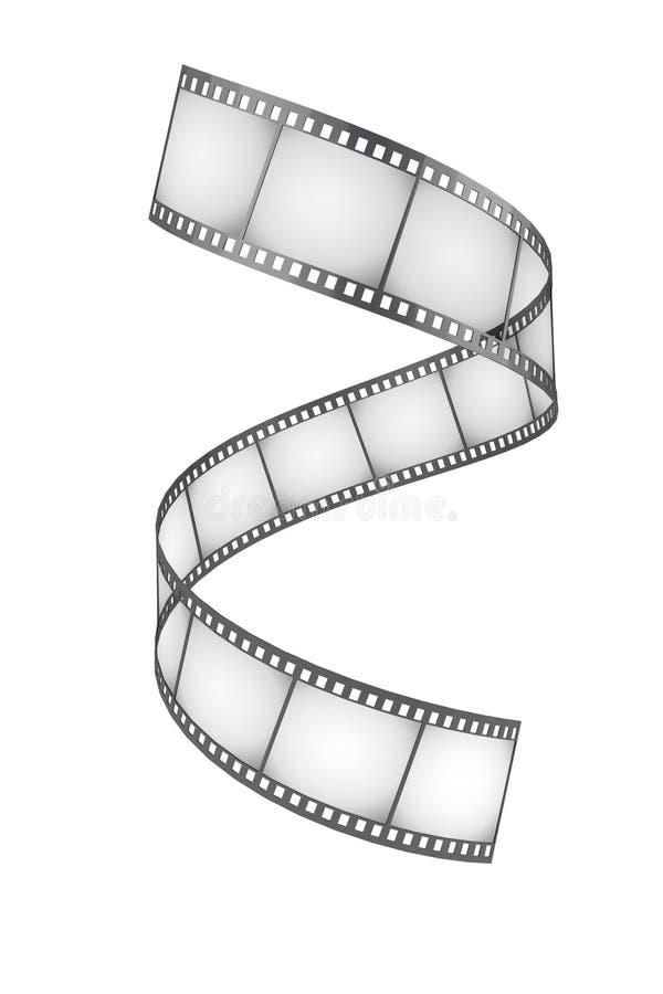 Develop film. White background, isolated stock illustration