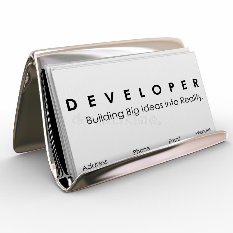 Developer Business Cards Builder Software Application Programmer ...