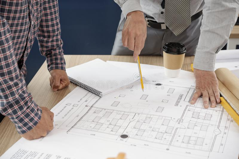 Developing a construction project royalty free stock photo