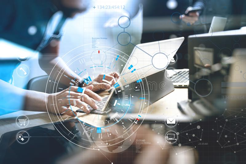 Developing programming and coding technologies. Website design. royalty free stock image