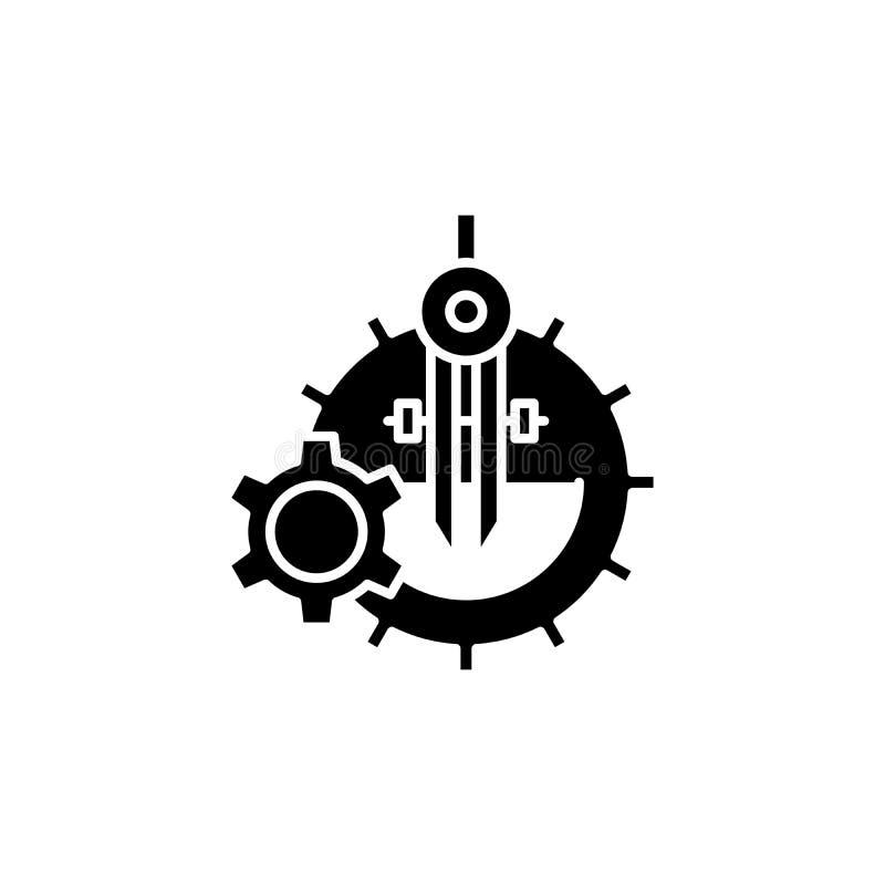 Development black icon concept. Development flat vector symbol, sign, illustration. stock illustration