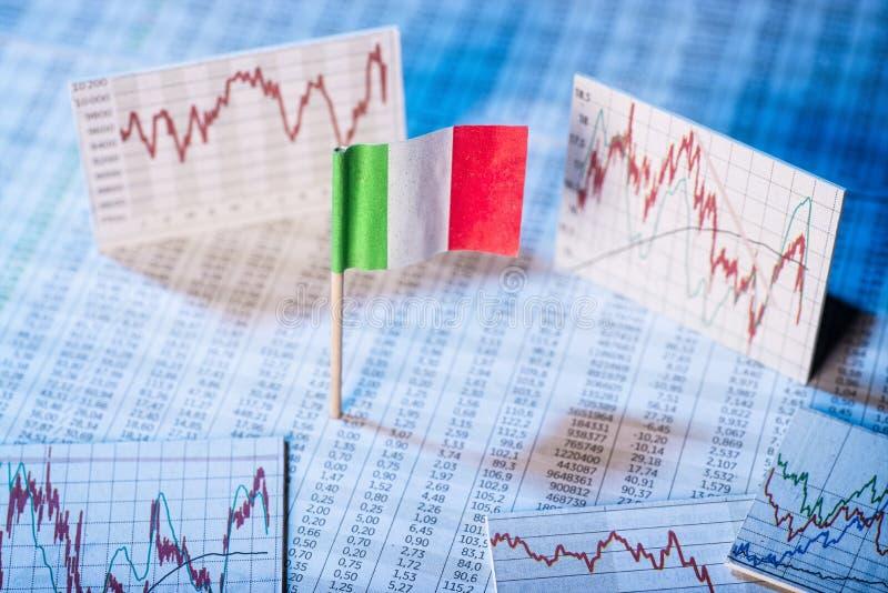Development of the economy in Italy stock photo