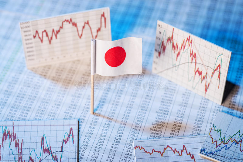 Development of the economy in Japan stock photography