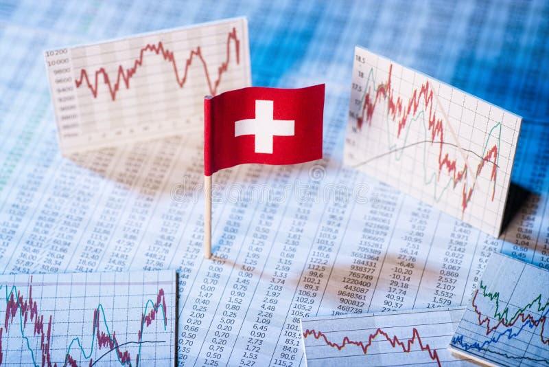 Development of the economy in Switzerland stock image