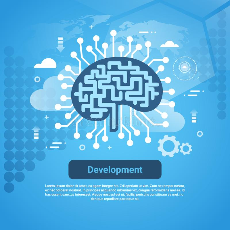 Development New Idea Concept Web Banner With Copy Space. Vector Illustration vector illustration