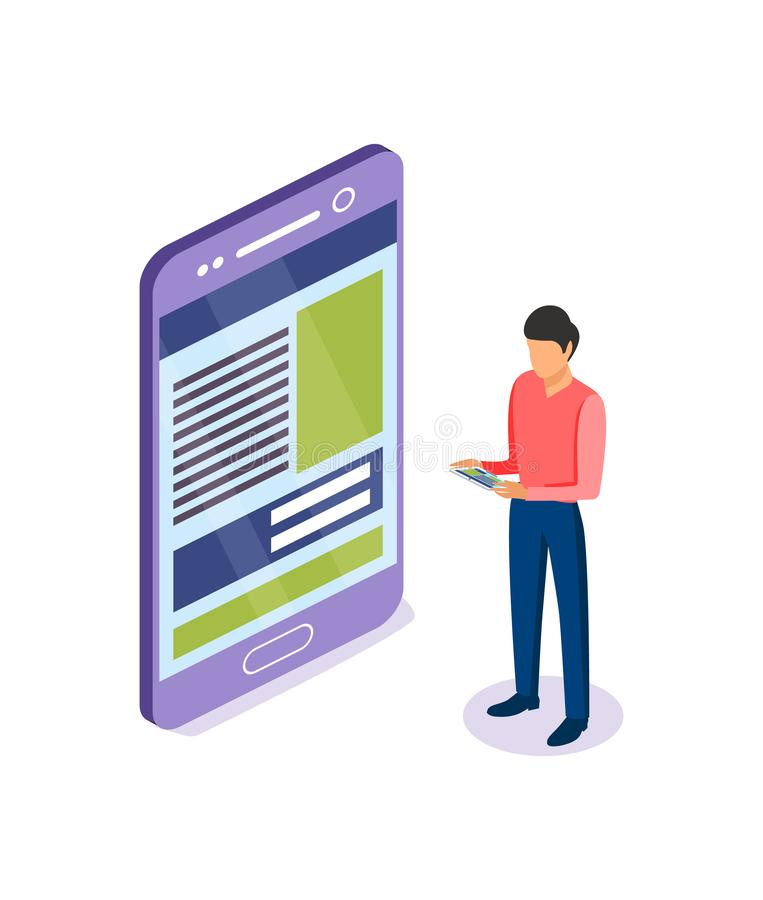Development, prototyping, testing of mobile user graphic ux disassembled interface. Development, prototyping, testing of the mobile user graphic ux disassembled vector illustration