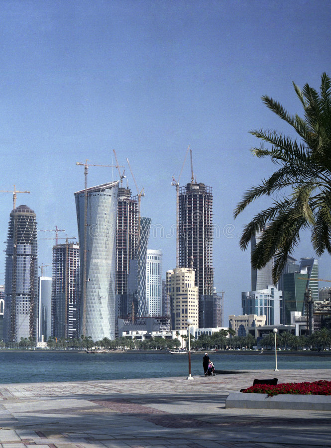 Development in Qatar 2009 royalty free stock images