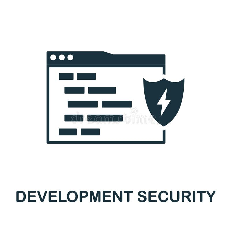 Development Security icon. Creative element design from programmer icons collection. Pixel perfect Development Security vector illustration