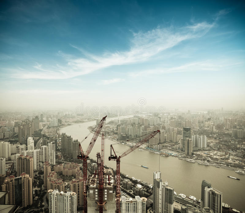 Development In Shanghai Stock Photography