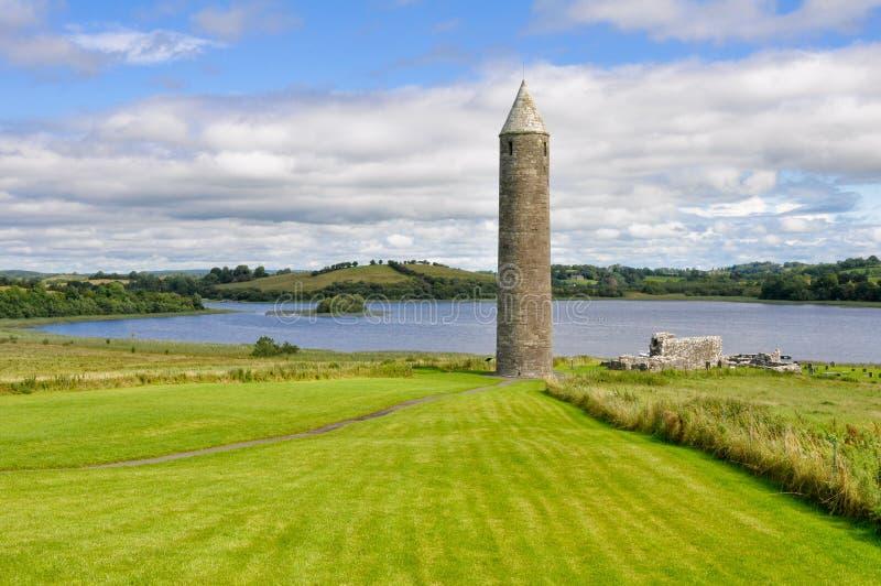 Devenish wyspy Klasztorny miejsce, Północny - Ireland fotografia royalty free