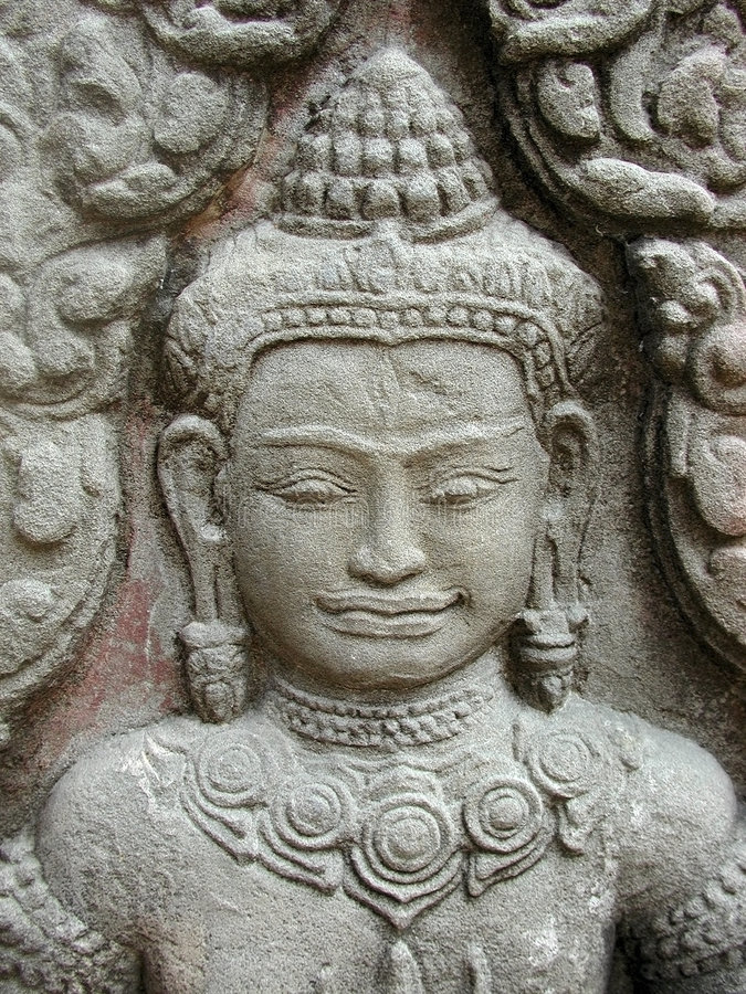 Download Devi face stock photo. Image of angkor, east, meditate, female - 966