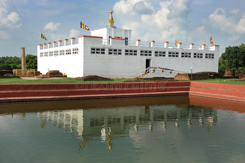 devi lumbini majowia Nepal świątynia obraz stock